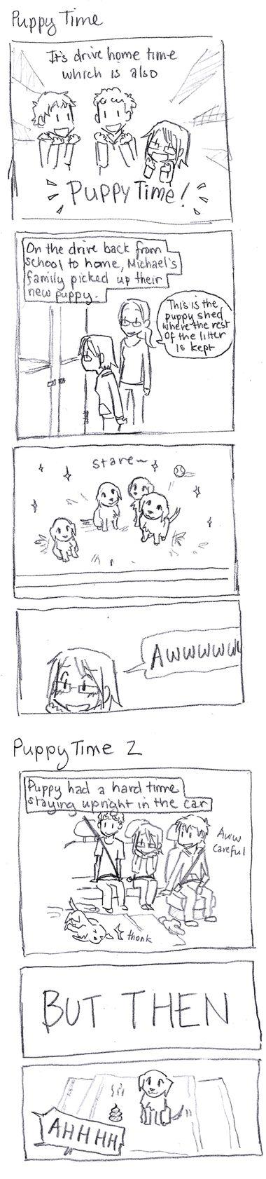 Winter Break Comics: Puppy Time