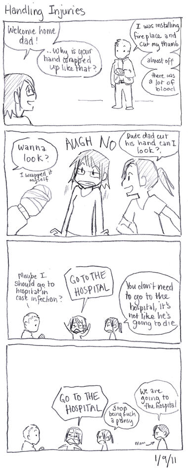 Winter Break Comics: Handling injuries