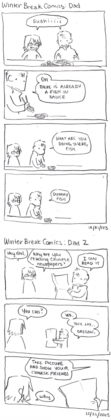 Winter Break Comics