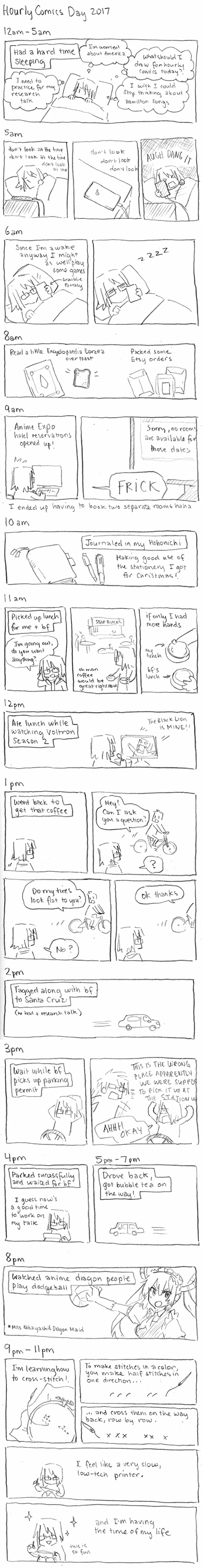 Hourly Comics Day 2017