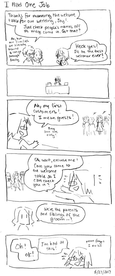 Wedding Comics: I Had One Job