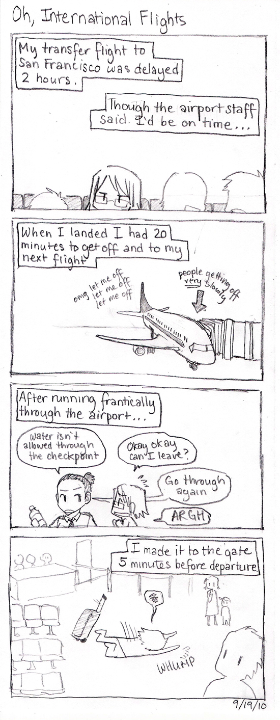 Korea Comics: Oh, International Flights