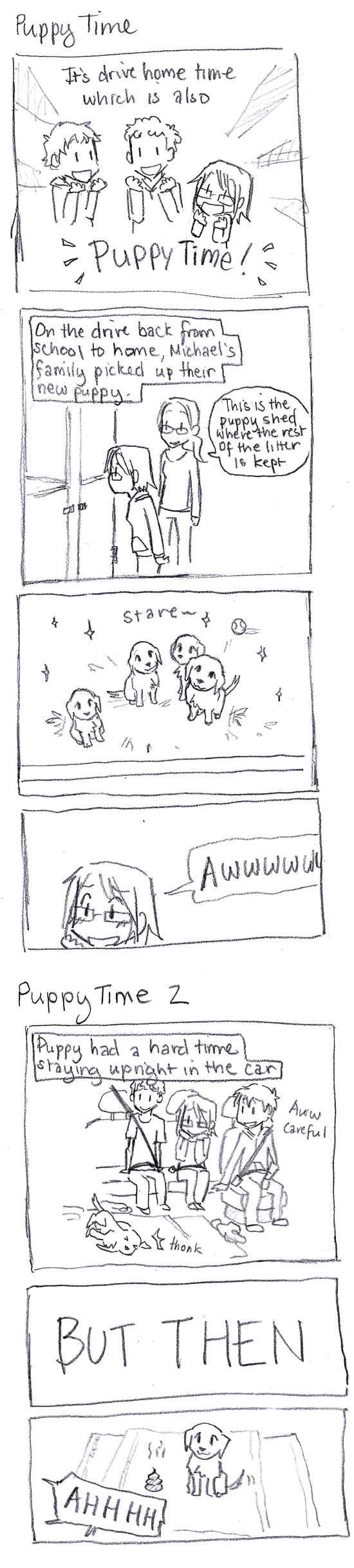 Winter Break Comics: Puppy Time