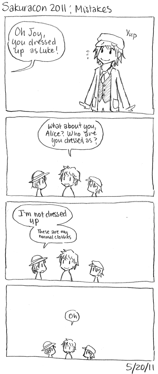 Sakuracon Comics: Mistakes