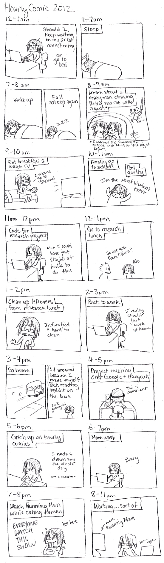 Hourly Comics Day 2012