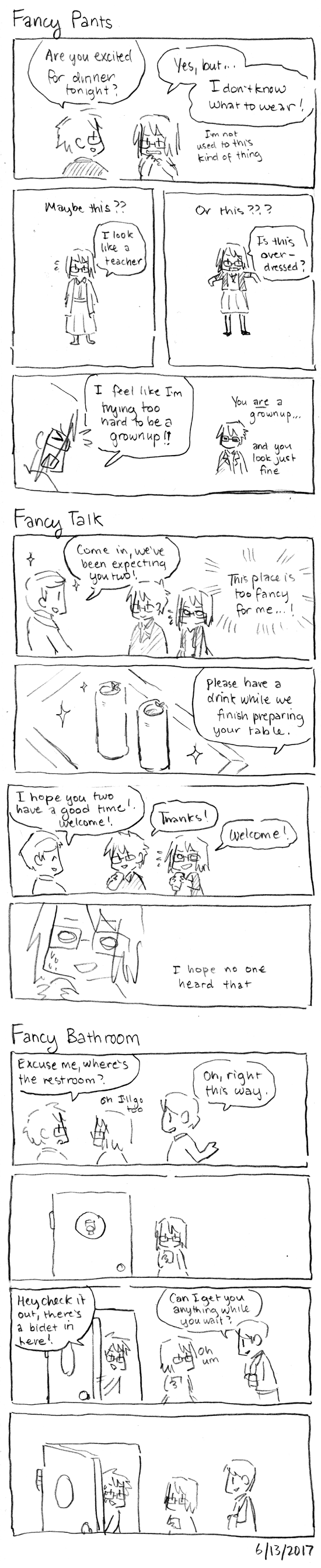 Fancy Dinner Comics