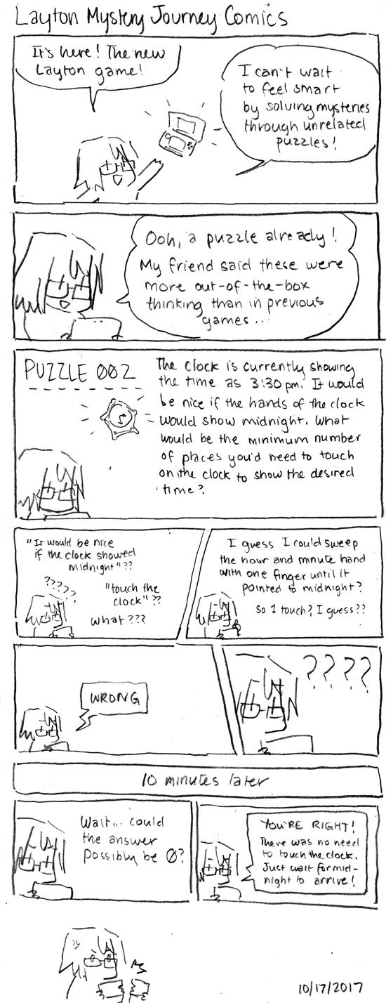Layton's Mystery Journey Comics