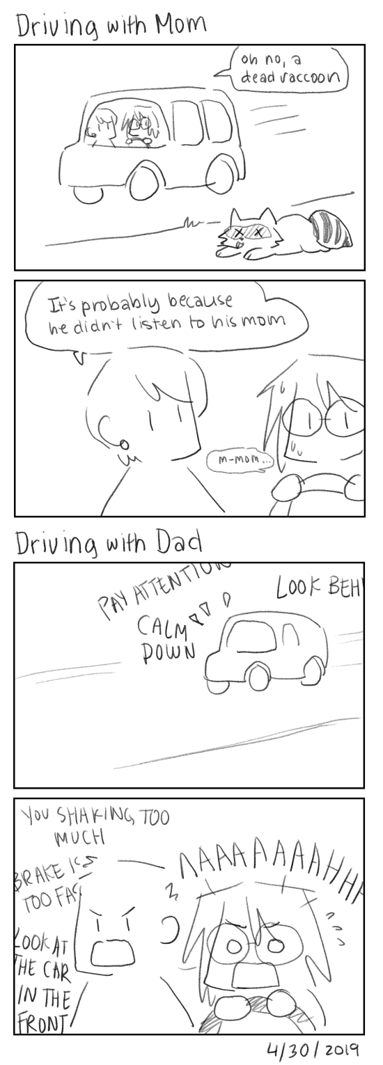 Driving with Mom and Dad