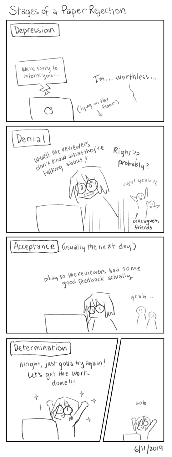 Stages of a Paper Rejection