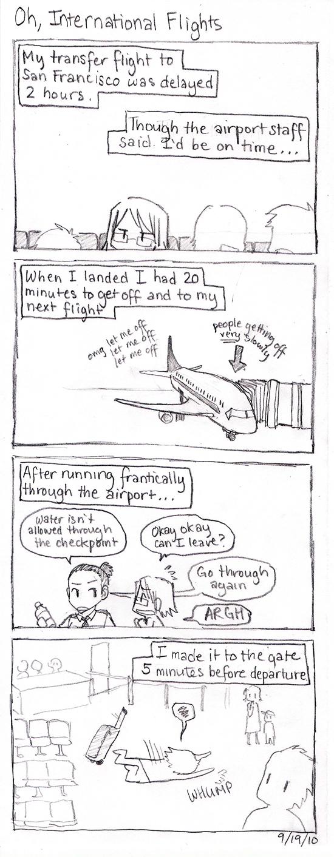 Korea Comics: Oh, International Flights