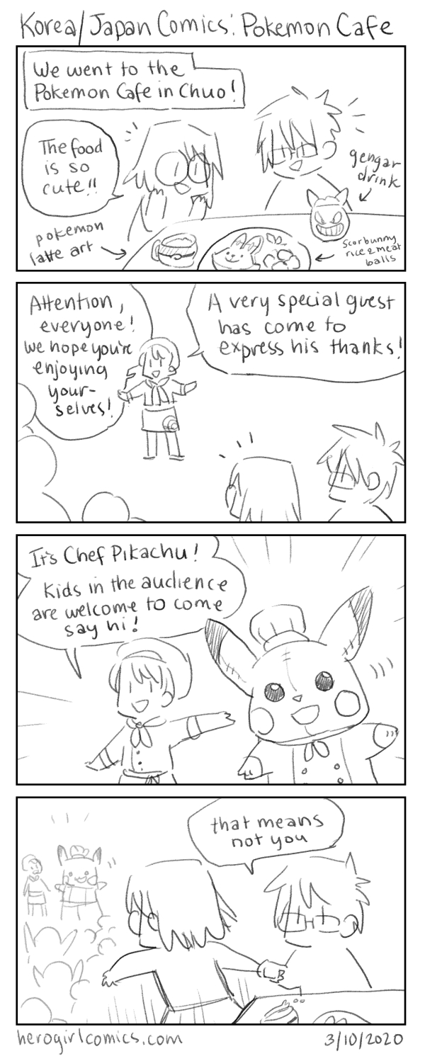 Korea/Japan Comics: Pokemon Cafe