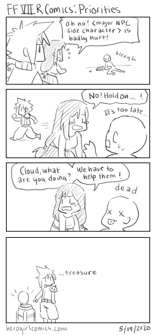 FFVII Remake Comics: Priorities