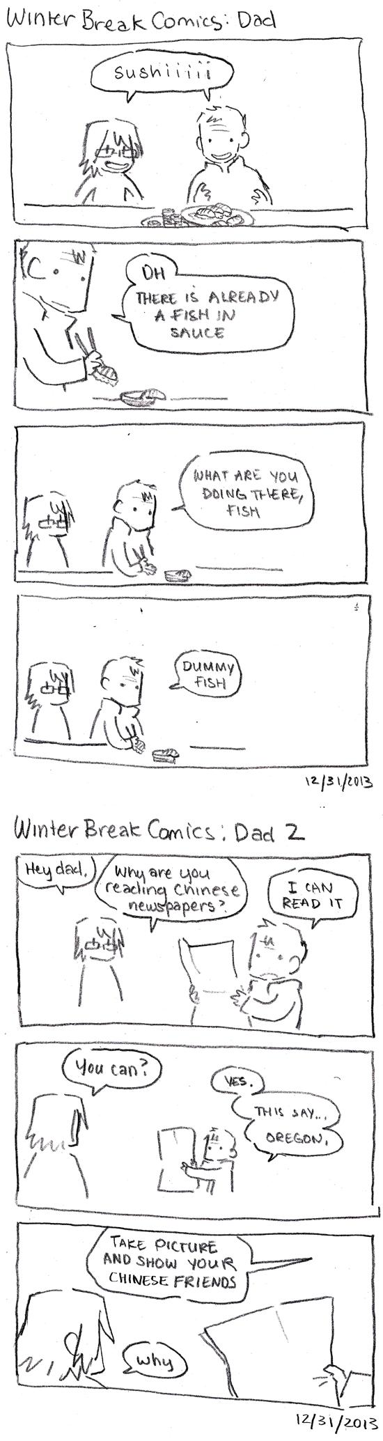 Winter Break Comics